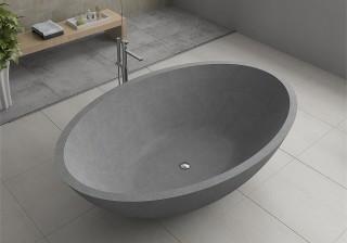 Terrazzo stone freestanding bath in Sydney